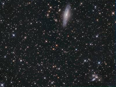 NGC7331 and Stephans Quintlet