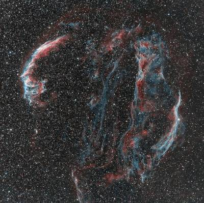 Veil Nebula - Ha and BiColor
